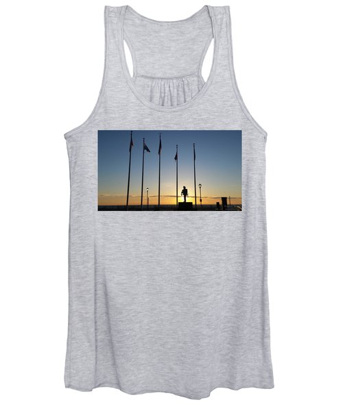 Sunrise At The Firefighters Memorial Women's Tank Top