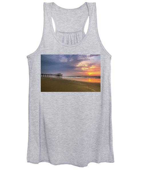 Sunrise At Tybee Island Pier Women's Tank Top