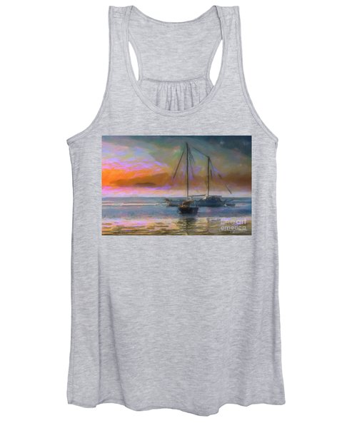 Sunrise With Boats Women's Tank Top