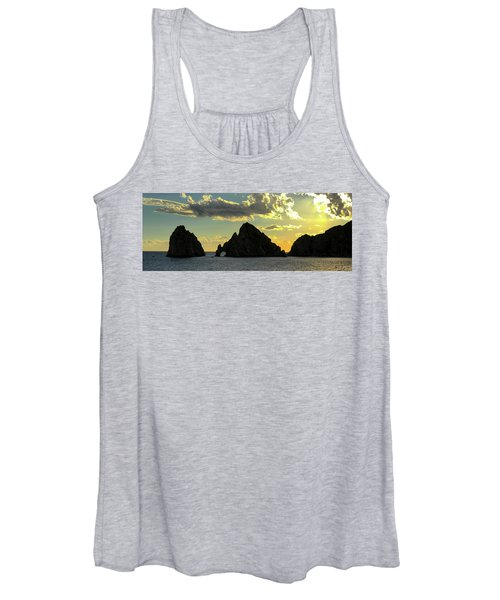 Sunset At Land End The Arch At Cabo San Lucas Women's Tank Top