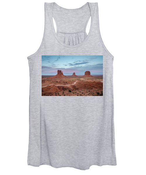 Sunset At Monument Valley No.1 Women's Tank Top