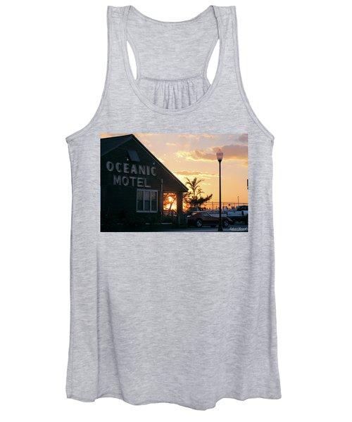 Sunset At Oceanic Motel Women's Tank Top
