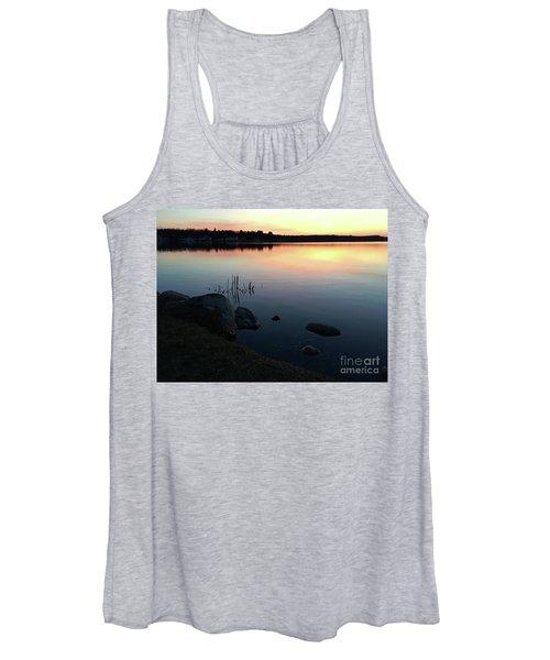 Sunset At Pentwater Lake Women's Tank Top