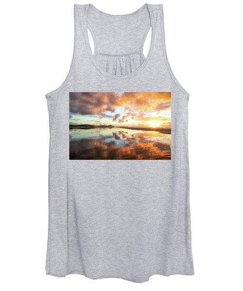Sunset Beach Reflections Women's Tank Top