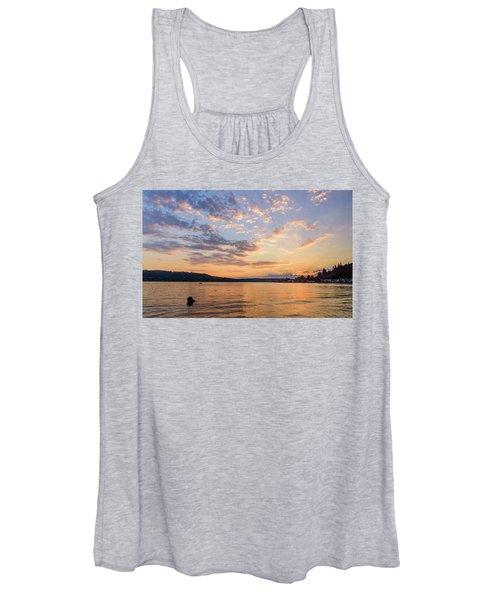 Sunset In Lake Sammamish Women's Tank Top