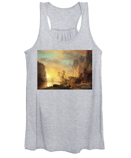 Sunset In The Rockies Women's Tank Top