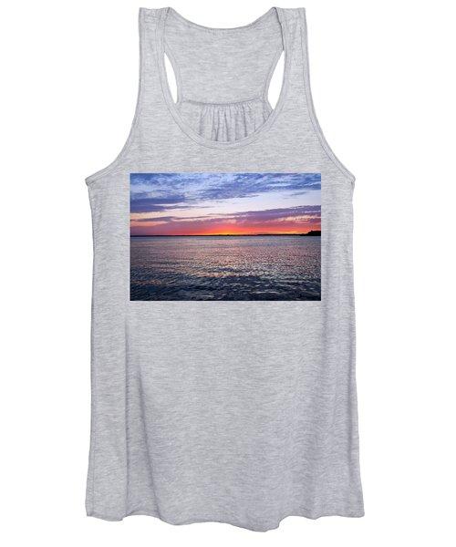 Sunset On Barnegat Bay I - Jersey Shore Women's Tank Top