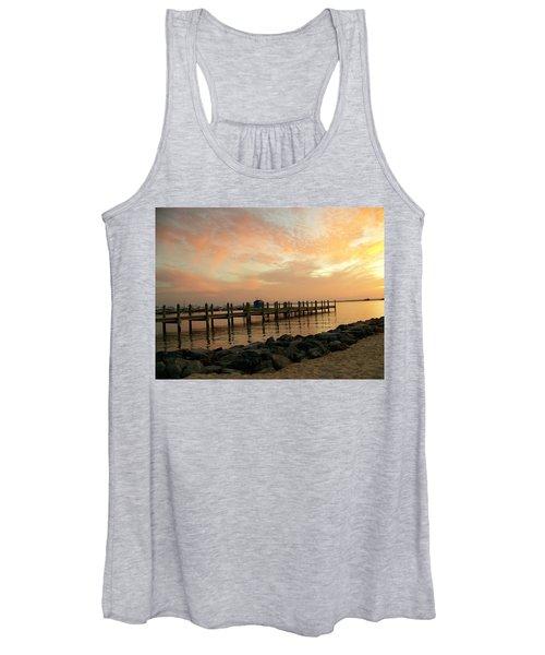 Sunset On Dewey Bay Women's Tank Top