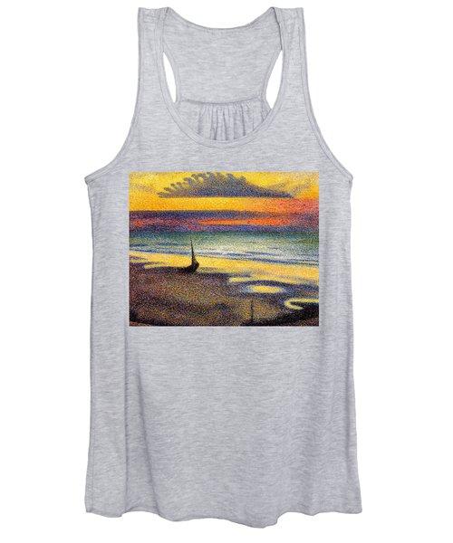 Sunset On The Beach 1891 Women's Tank Top