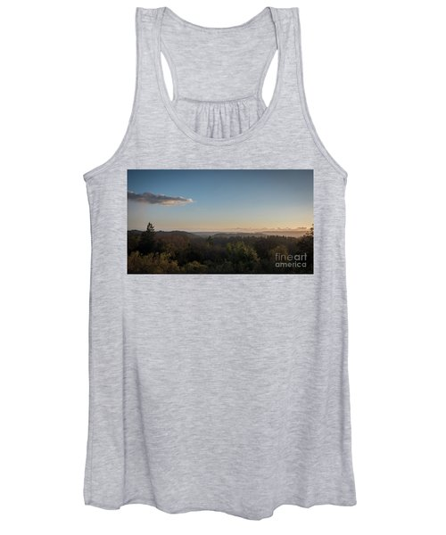 Sunset Over Top Of Dense Forest Women's Tank Top