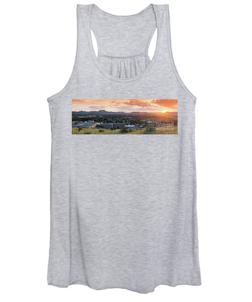Sunset Panorama Of Alpine And Sul Ross State University - Brewster County - Far West Texas Women's Tank Top