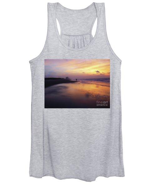 Sunset Walk On Myrtle Beach Women's Tank Top