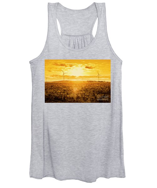 Sunsets And Golden Turbines Women's Tank Top