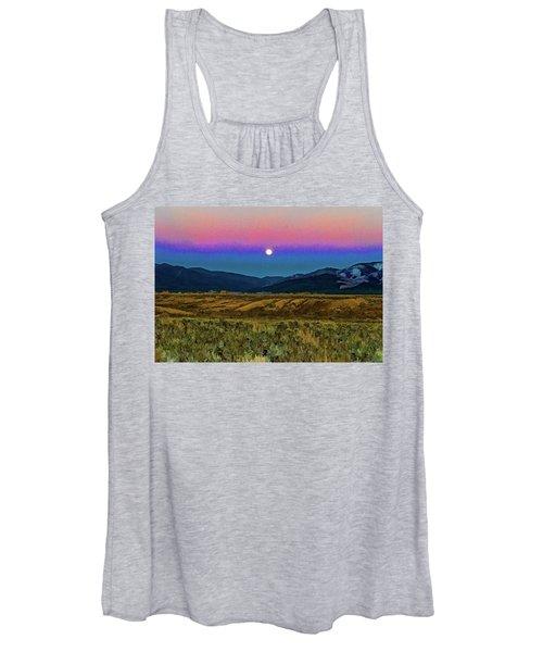 Super Moon Over Taos Women's Tank Top