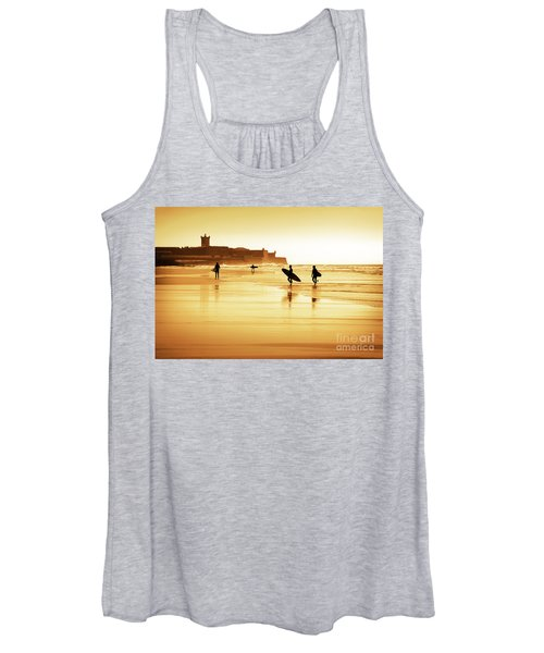 Surfers Silhouettes Women's Tank Top