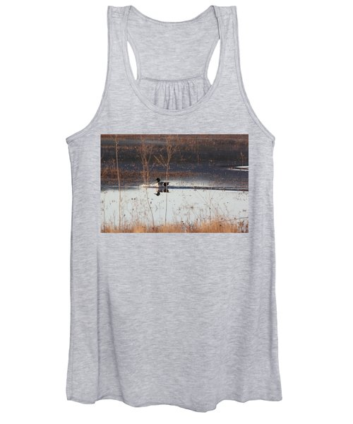 Women's Tank Top featuring the pyrography Surfs Up by Michael Lucarelli