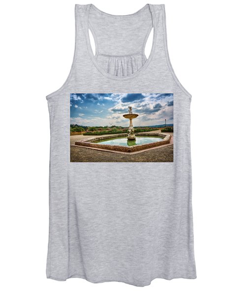 The Monkeys Fountain At The Gardens Of The Knight In Florence, Italy Women's Tank Top