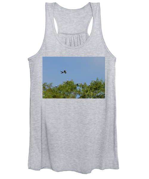 Swallow-tailed Kite Flyover Women's Tank Top
