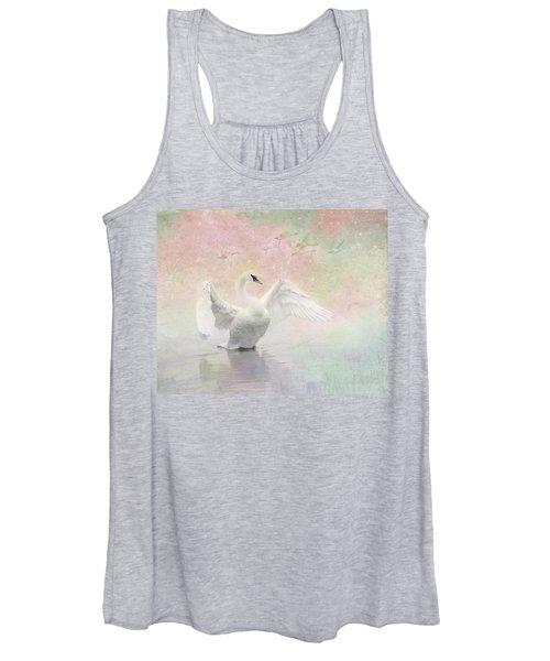 Swan Dream - Display Spring Pastel Colors Women's Tank Top