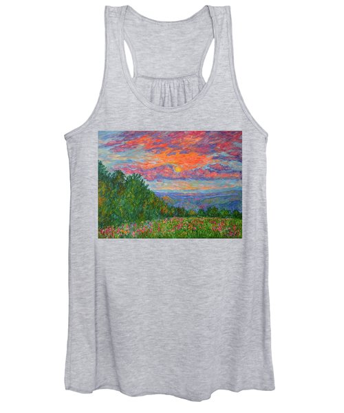 Sweet Pea Morning On The Blue Ridge Women's Tank Top