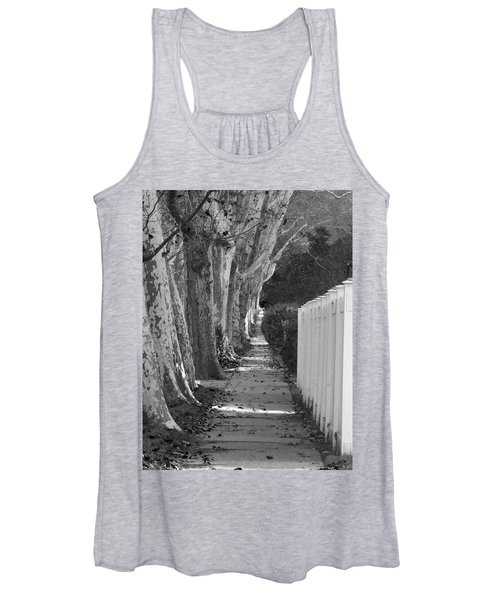 Sycamore Walk-grayscale Version Women's Tank Top