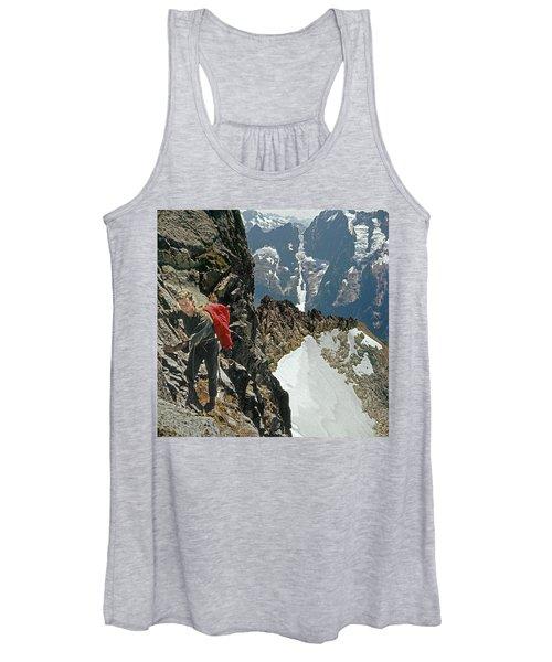 T-04403 Walt Buck Sellers On First Ascent Of Mt. Torment Women's Tank Top