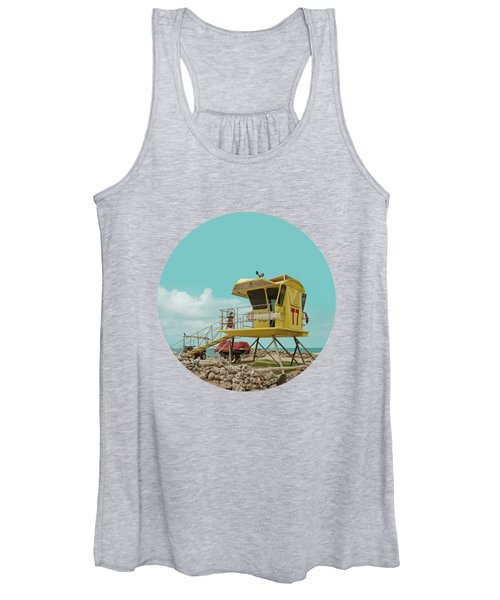 T7 Lifeguard Station Kapukaulua Beach Paia Maui Hawaii Women's Tank Top