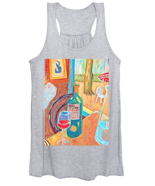 Table At Justine's Women's Tank Top