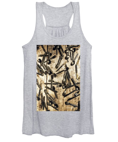 Tableware Abstract Women's Tank Top
