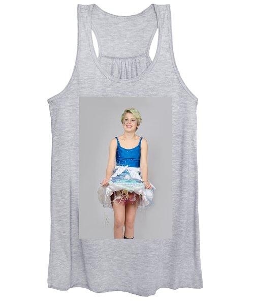Taetyn In Jelly Fish Dress Women's Tank Top