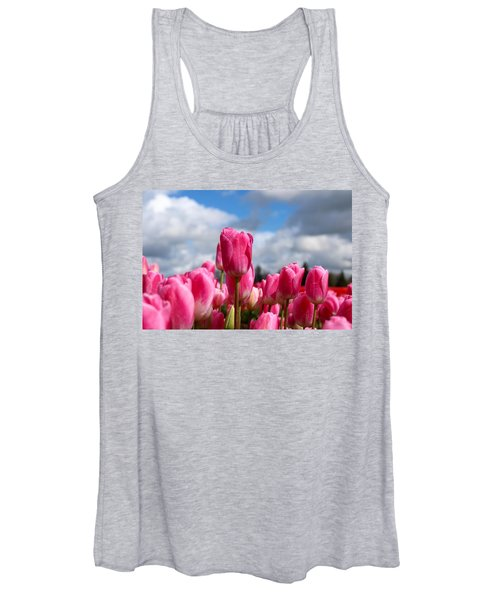 Tall Standing Tulip Women's Tank Top