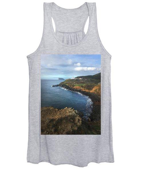 Terceira Island Coast With Ilheus De Cabras And Ponta Das Contendas Lighthouse  Women's Tank Top