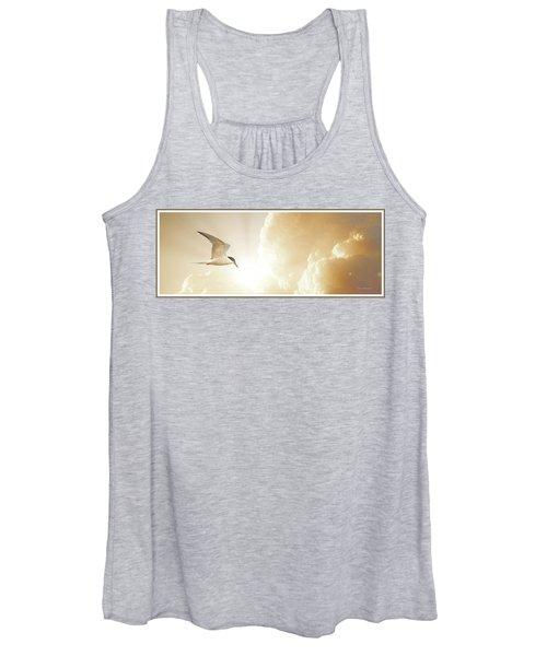 Tern In Flight, Spiritual Light Of Dusk Women's Tank Top