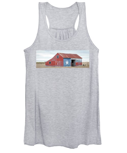 Texas Barn With Goats And Ram On The Side Women's Tank Top