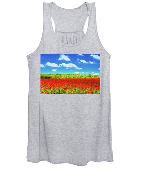 Texas Red Poppies Women's Tank Top