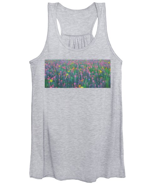 Texas Wildflowers Abstract Women's Tank Top