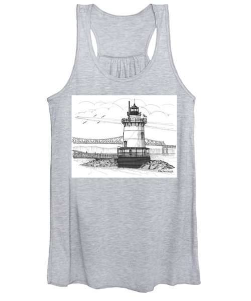 The 1883 Lighthouse At Sleepy Hollow Women's Tank Top