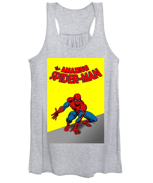 Women's Tank Top featuring the painting The Amazing Spider-man by Antonio Romero