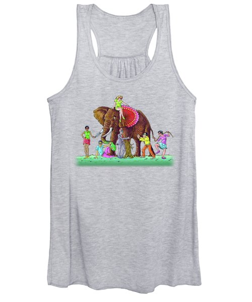 The Blind And The Elephant Women's Tank Top