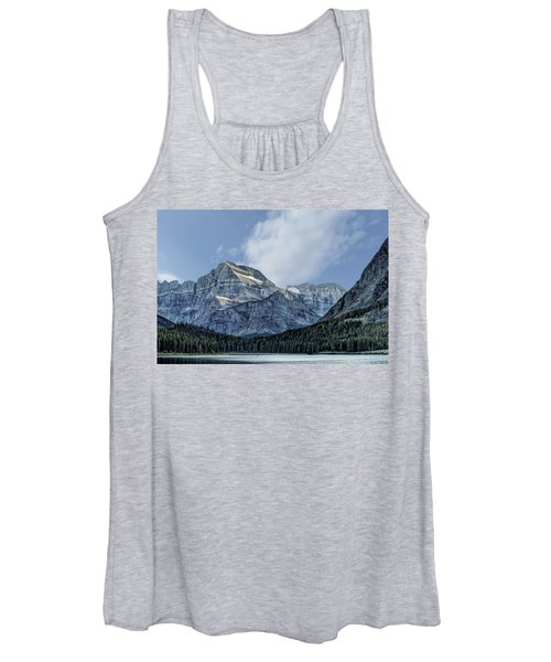 The Blue Mountains Of Glacier National Park Women's Tank Top