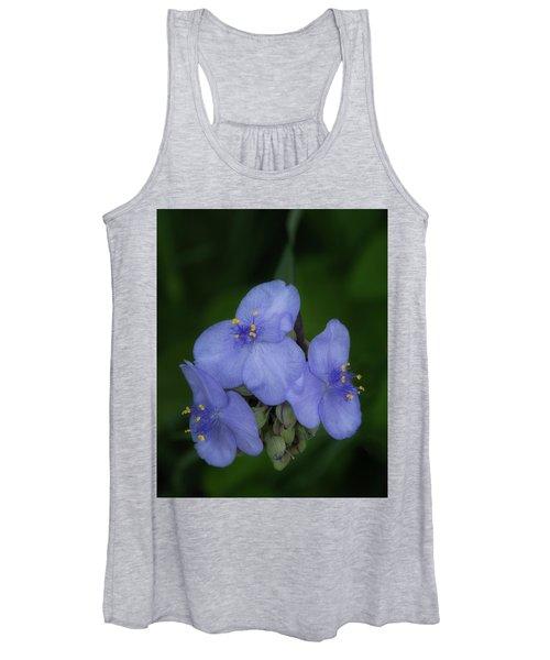 The Blues - Spiderwort Blossoms Women's Tank Top