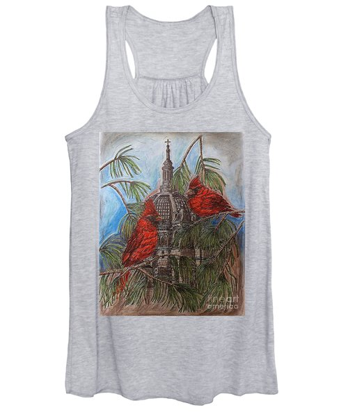 The Cardinals Visit St.pauls Cathedral Women's Tank Top