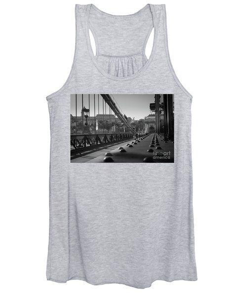 Women's Tank Top featuring the photograph The Chain Bridge, Danube Budapest by Perry Rodriguez
