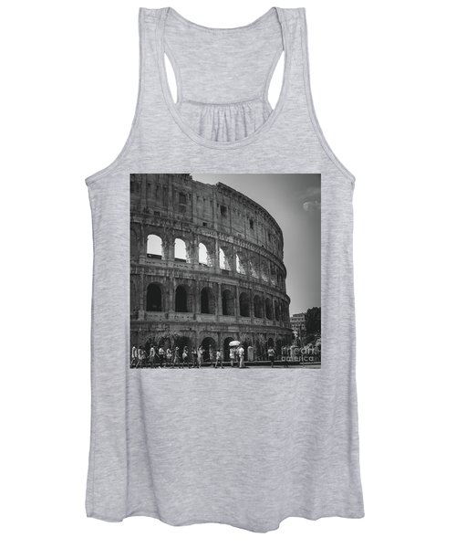 Women's Tank Top featuring the photograph The Colosseum, Rome Italy by Perry Rodriguez