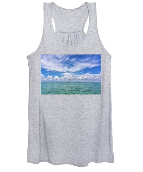 The Dance Of Clouds On The Sea Women's Tank Top