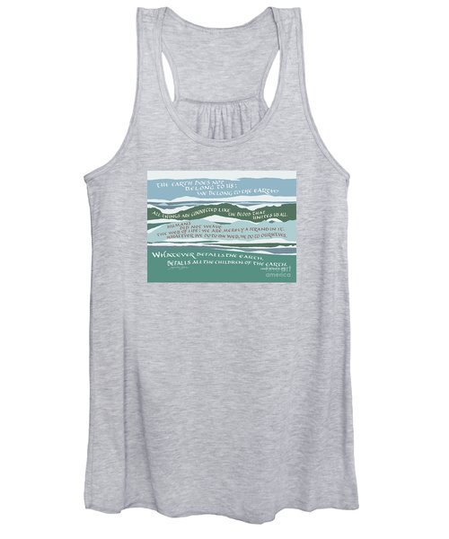 The Earth Does Not Belong To Us Women's Tank Top