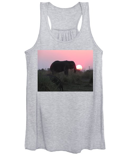 The Elephant And The Sun Women's Tank Top