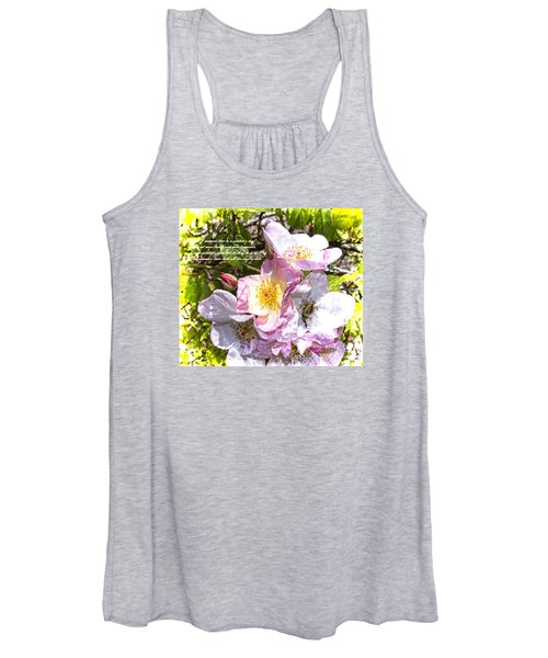 The Frailty Of Summer Roses And Of Love Women's Tank Top