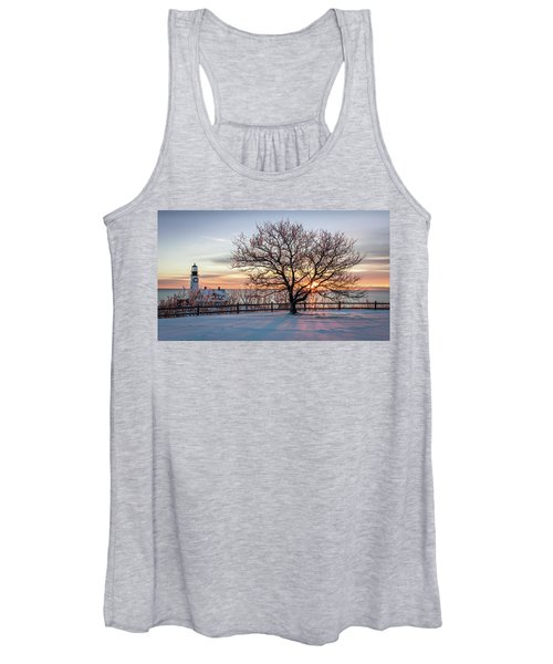 The Lighthouse And Tree Women's Tank Top