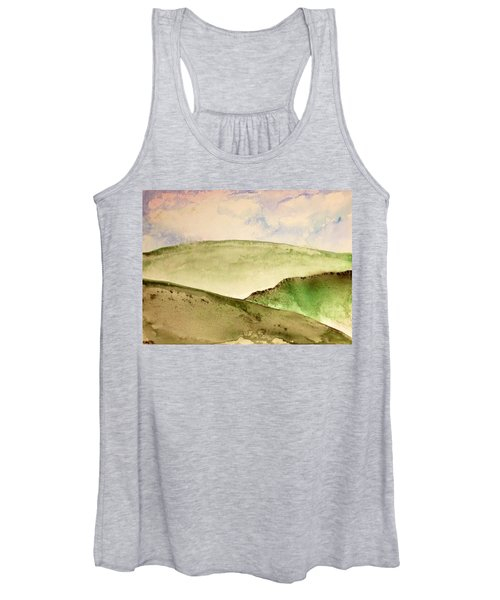 Women's Tank Top featuring the painting The Little Hills Rejoice by Antonio Romero